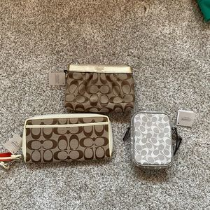 NWT Coach wallet, wristlet and travel case bundle!